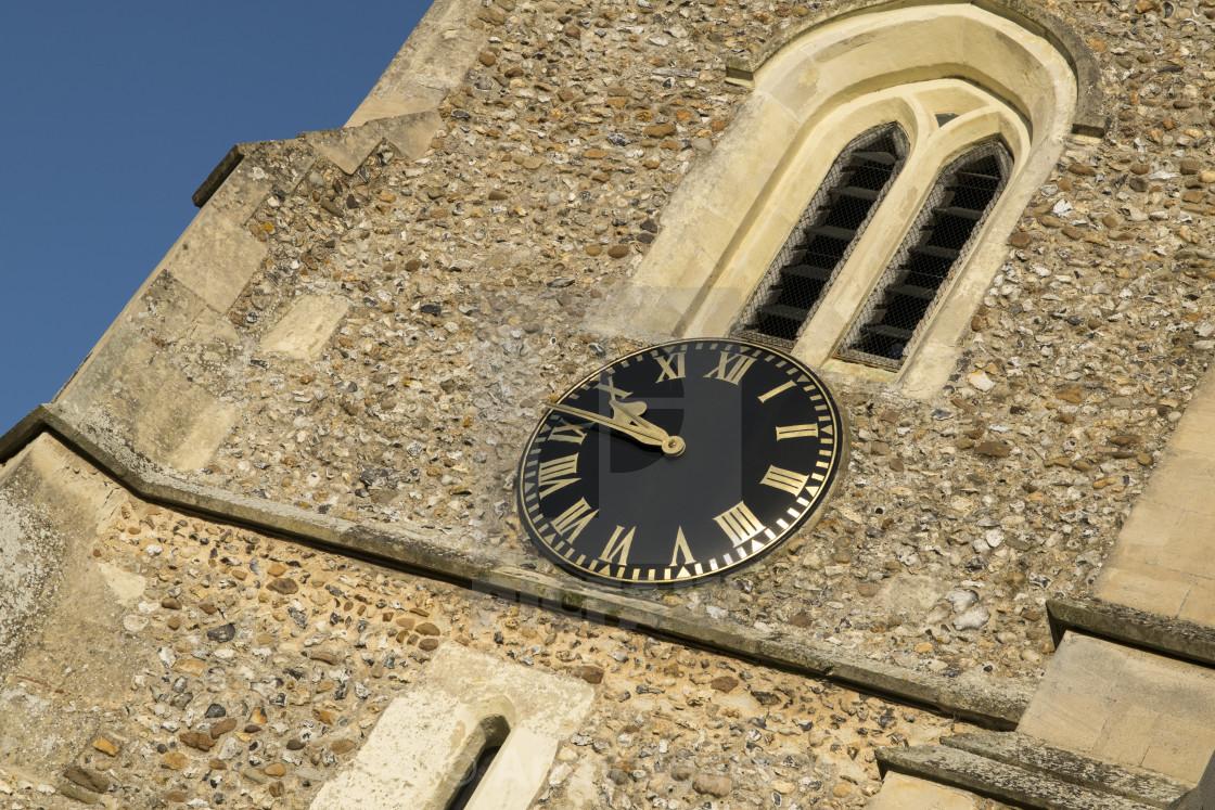 """Church Clock"" stock image"