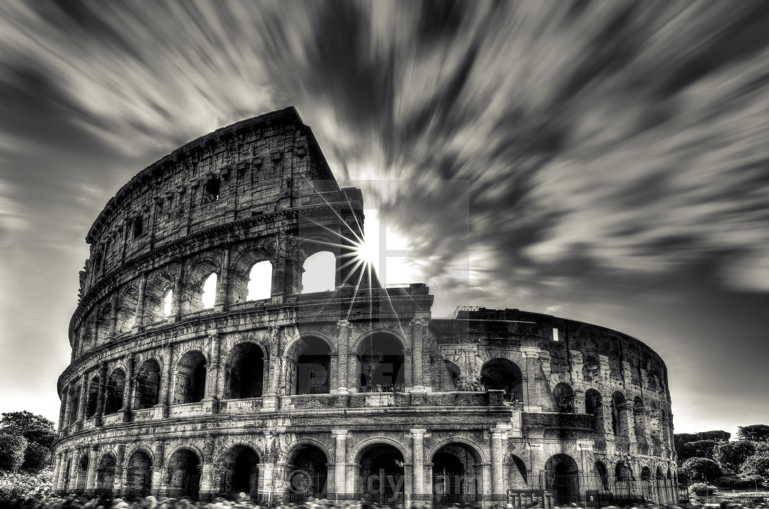 """The Eternal Rome Colosseum"" stock image"