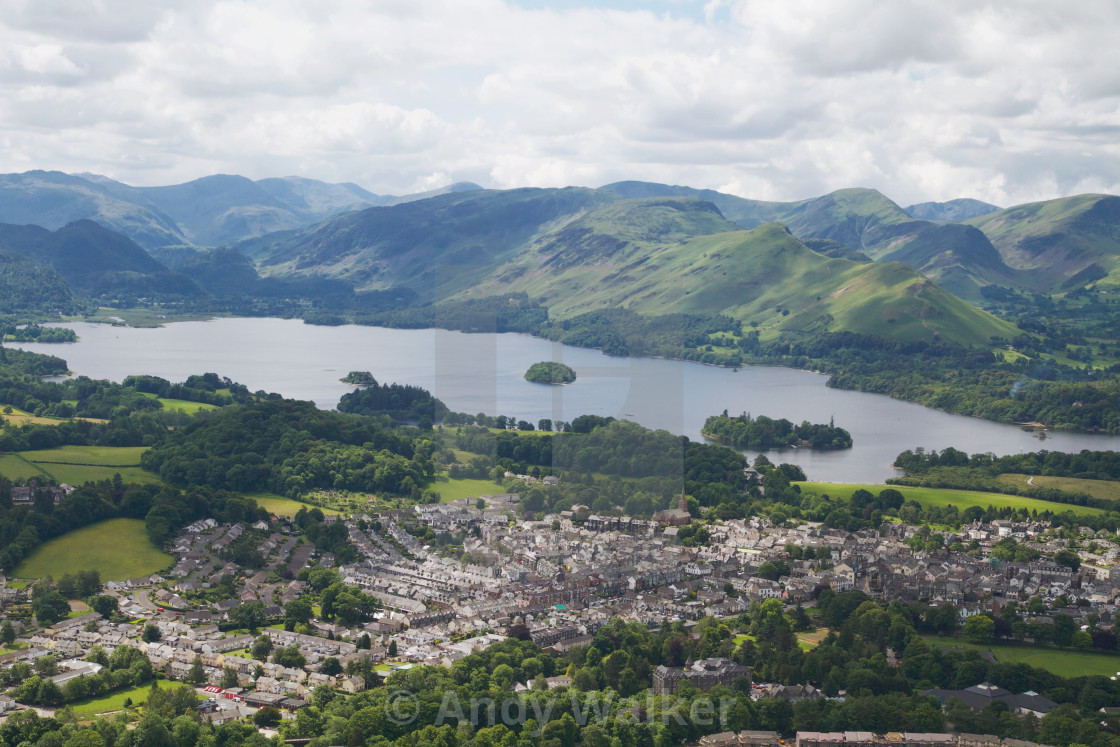 """The View from Latrigg"" stock image"