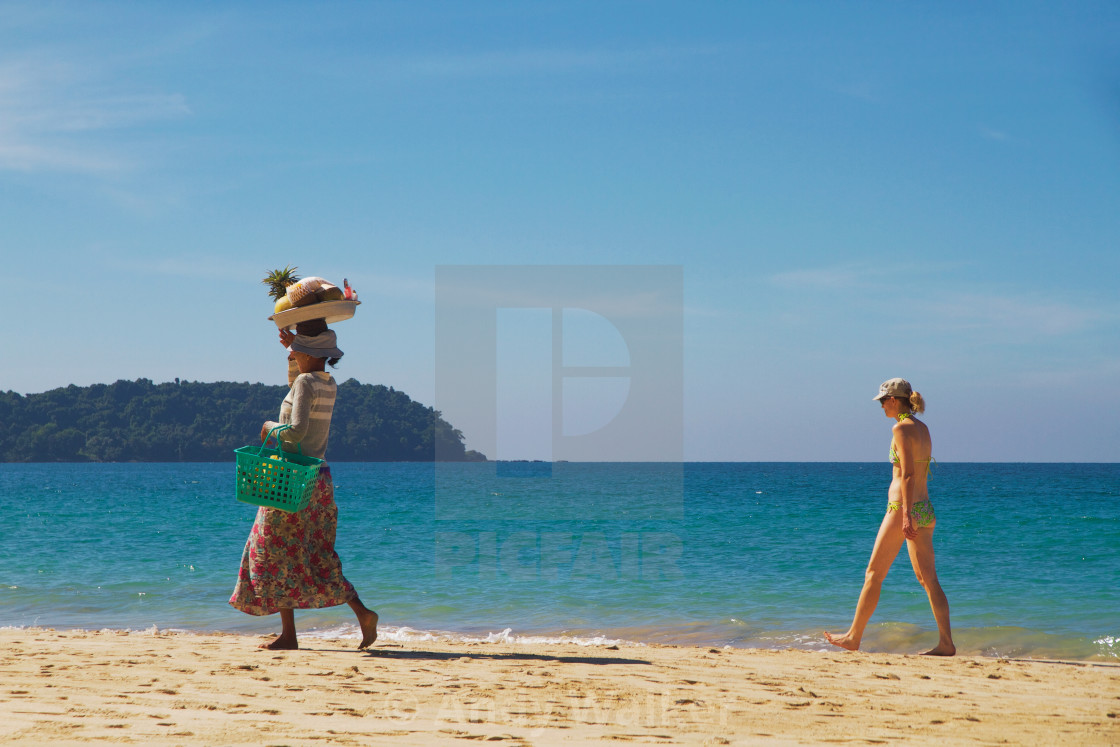 """A Day at the Beach"" stock image"