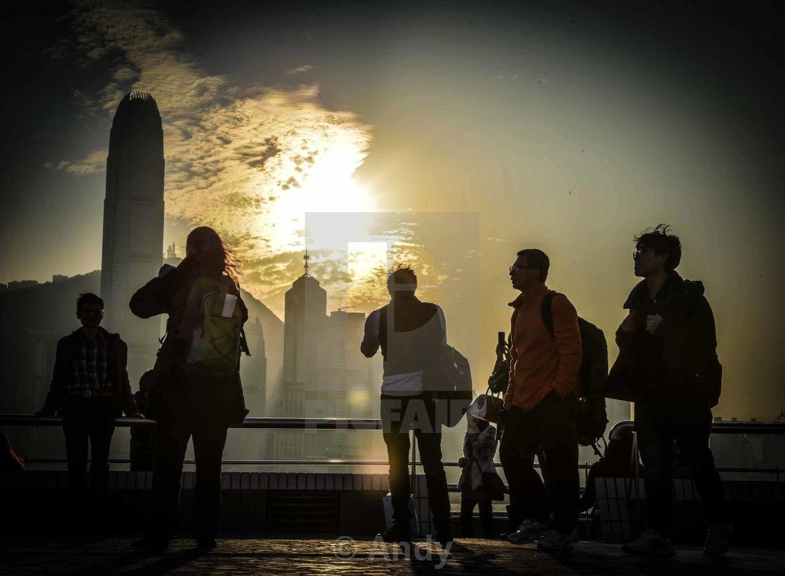 """""""Hong Kong Shadows"""" stock image"""