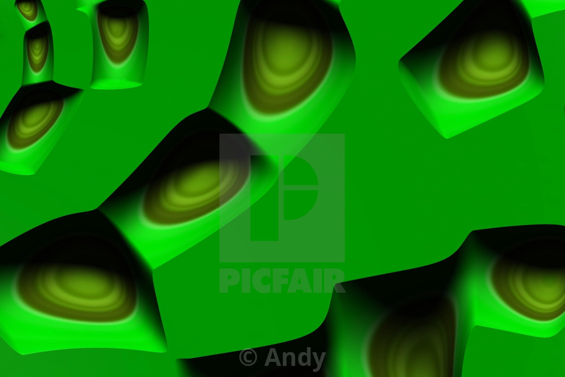 Abstract Neon Green 3d Futuristic Textured Background