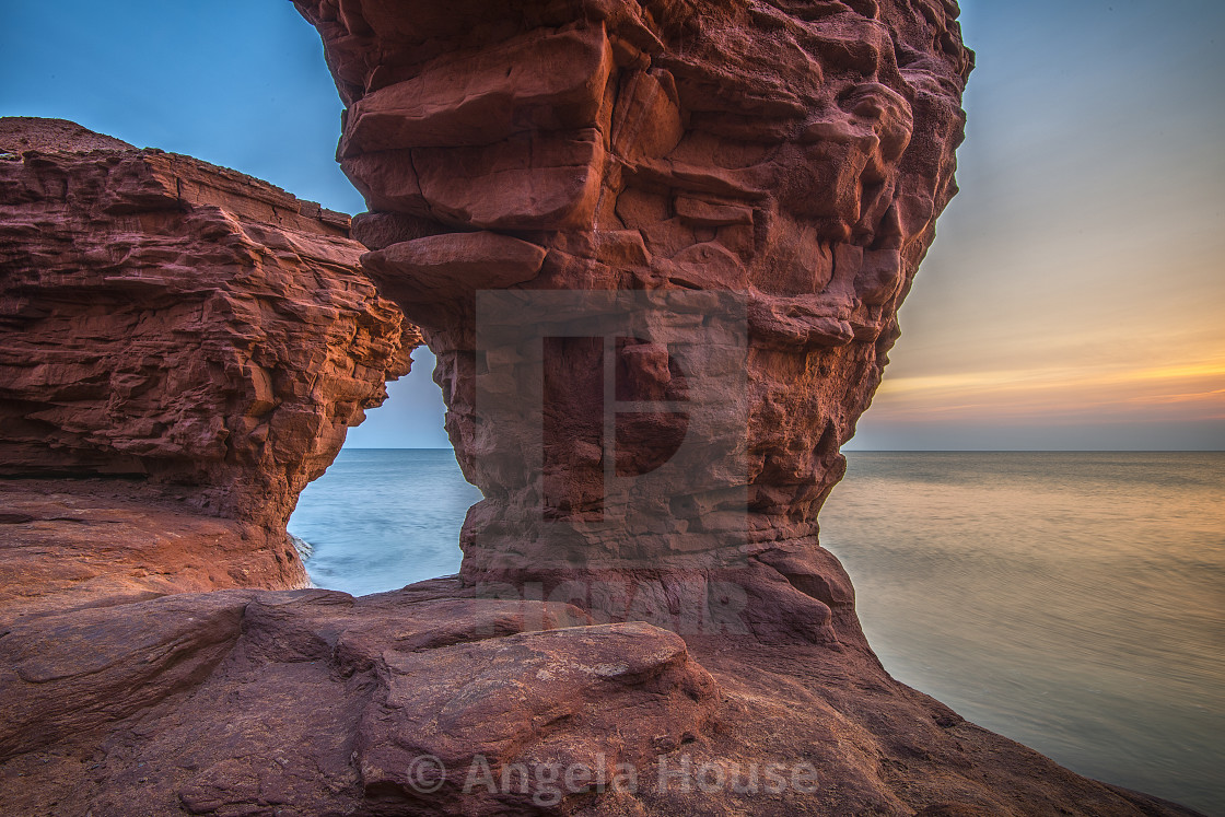 """Thunder Cove Beach, Darnley PEI"" stock image"