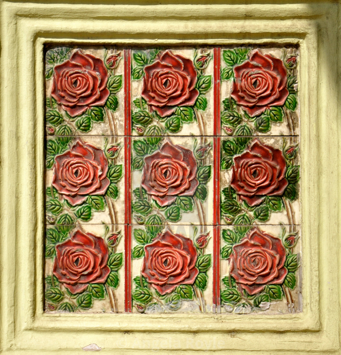 Red Rose Ceramic Tiles License Download Or Print For 4 96 Photos Picfair