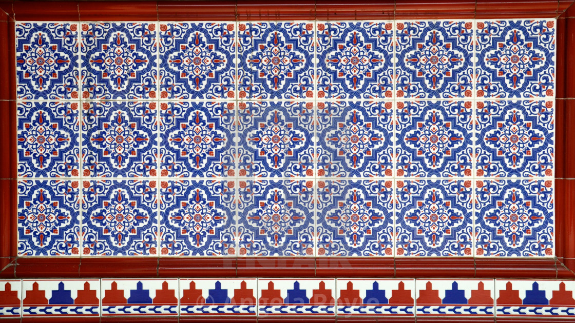 """Mosaic of ceramic tiles"" stock image"