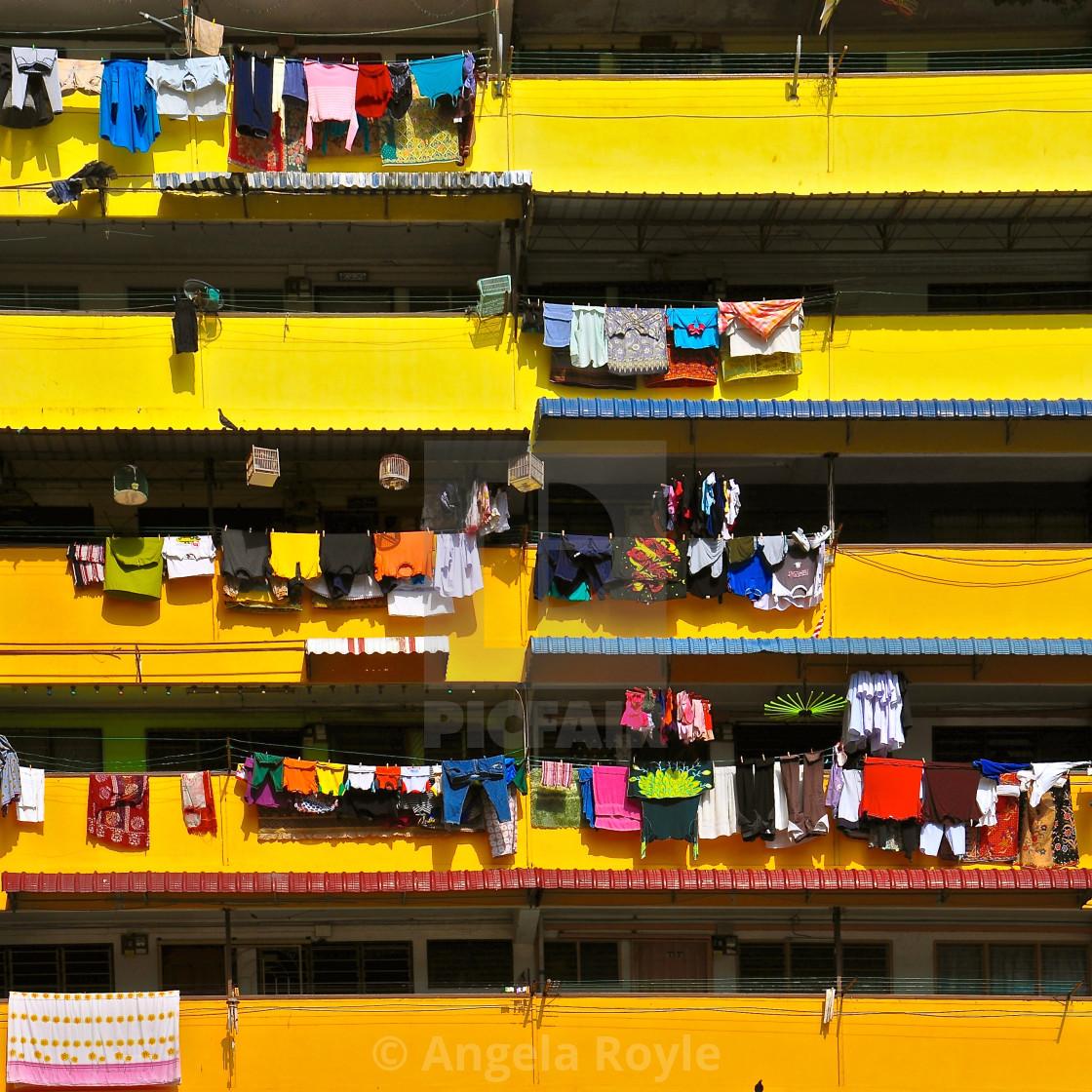 """""""Yellow balconies"""" stock image"""