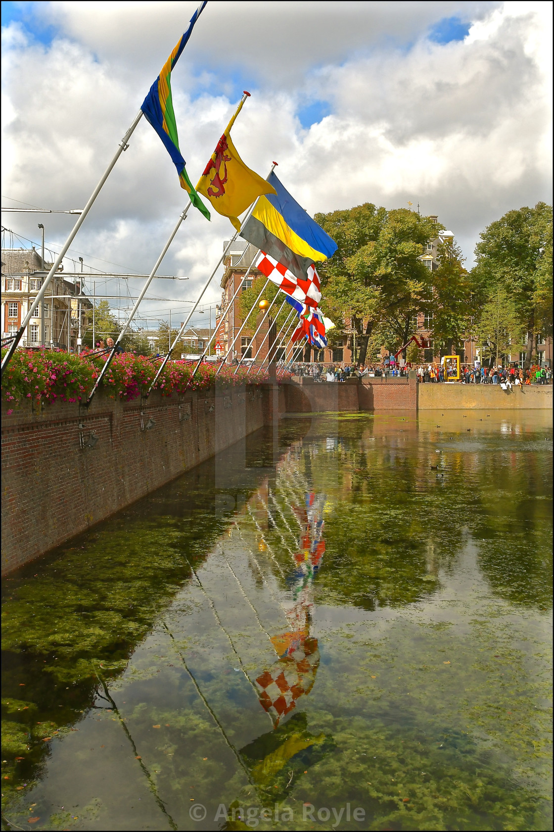 """Flags in Den Haag"" stock image"