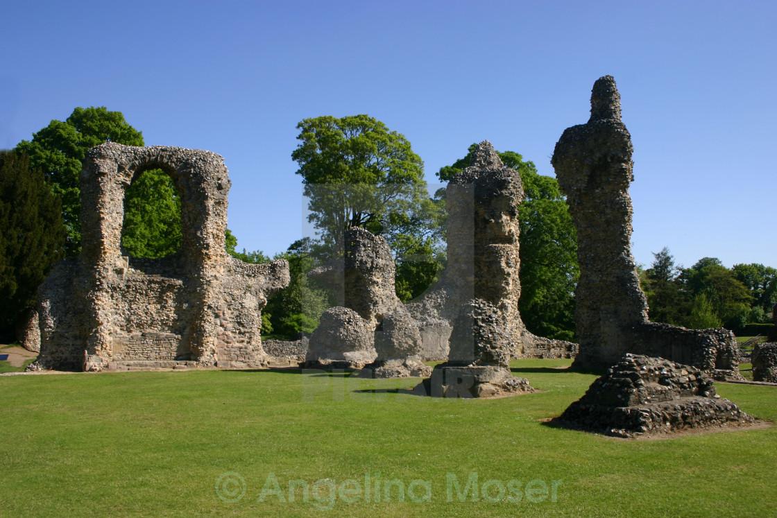 """Abbey Ruins, Bury St Edmunds."" stock image"
