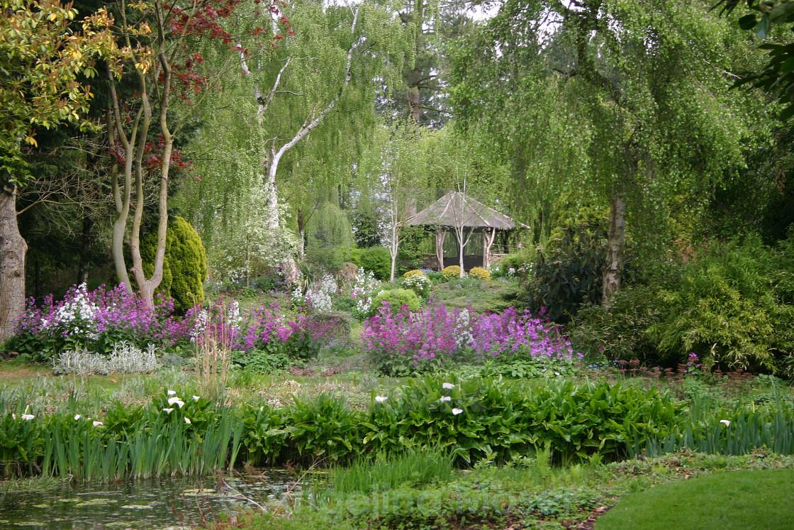 """Gooderstone Water Gardens"" stock image"