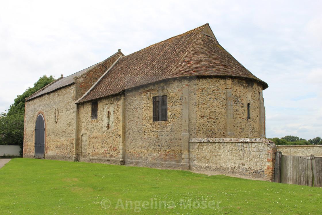 """""""Isleham Priory Church"""" stock image"""