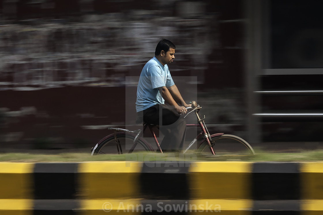 """""""panning cyclist"""" stock image"""