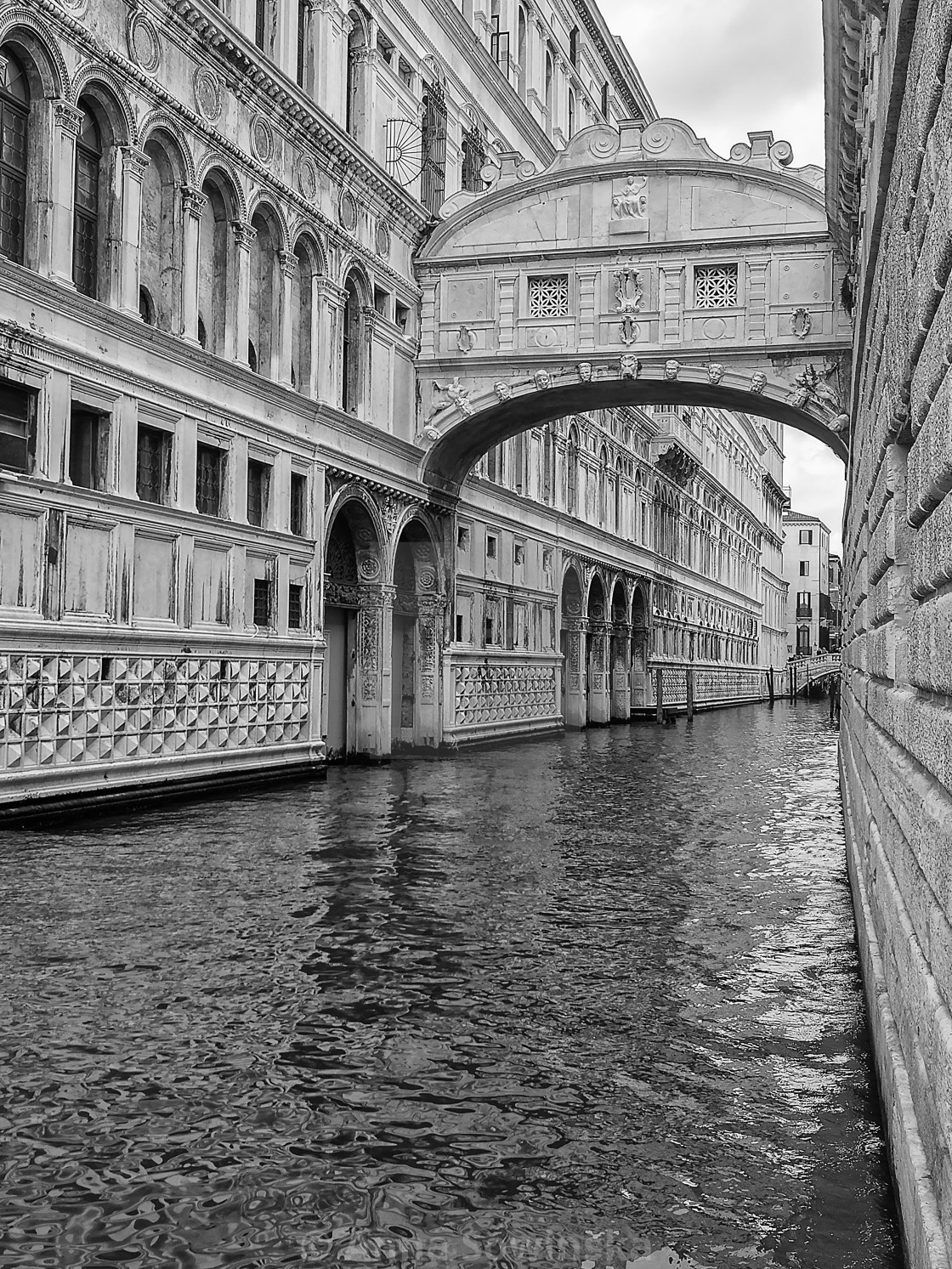 """Bridge of Sighs"" stock image"