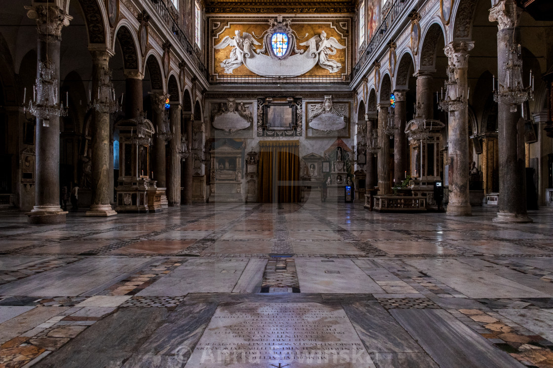 """""""Basilica of St.Mary of the Altar of Heaven"""" stock image"""