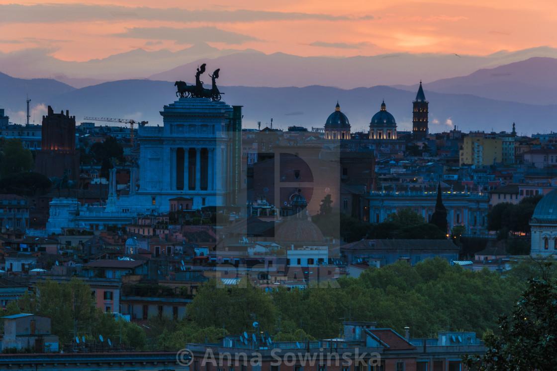 """Sunrise in Rome"" stock image"