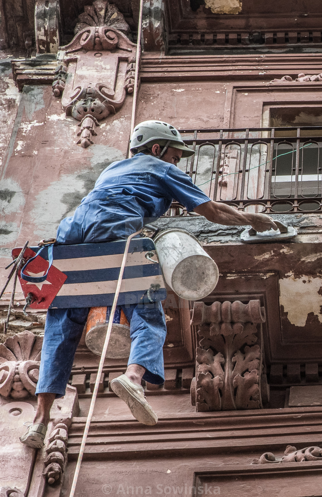 """bricklayer in Havana"" stock image"