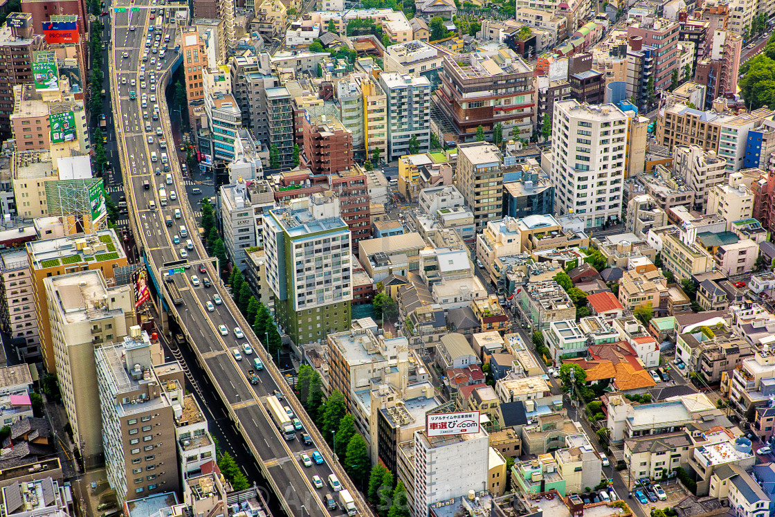 """""""Tokyo from above"""" stock image"""