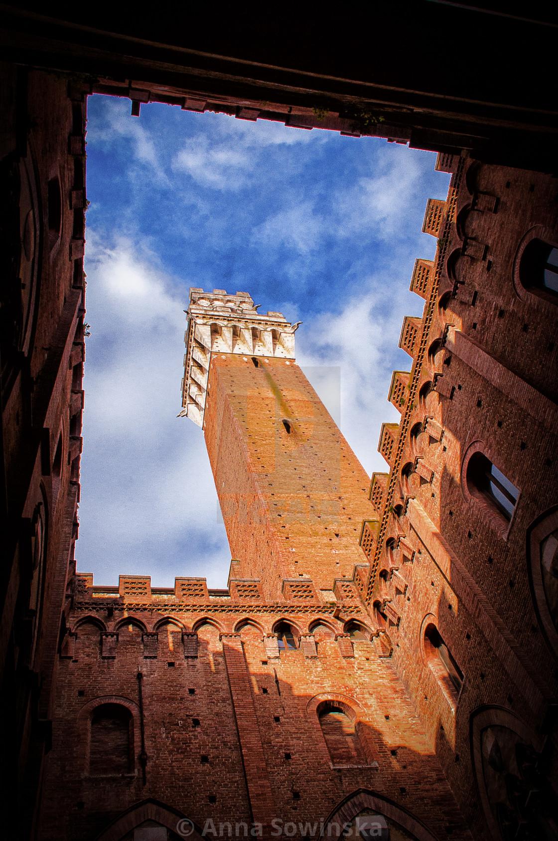 """""""Torre del Mangia"""" stock image"""