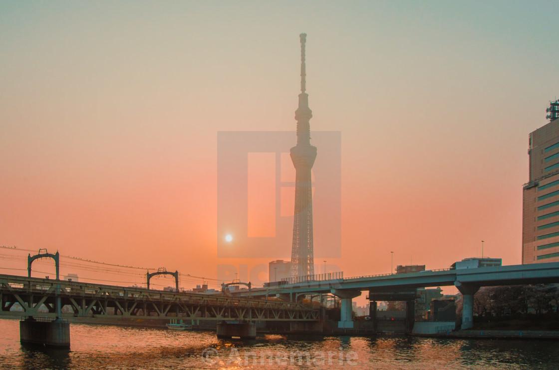 """Skytree bridges"" stock image"