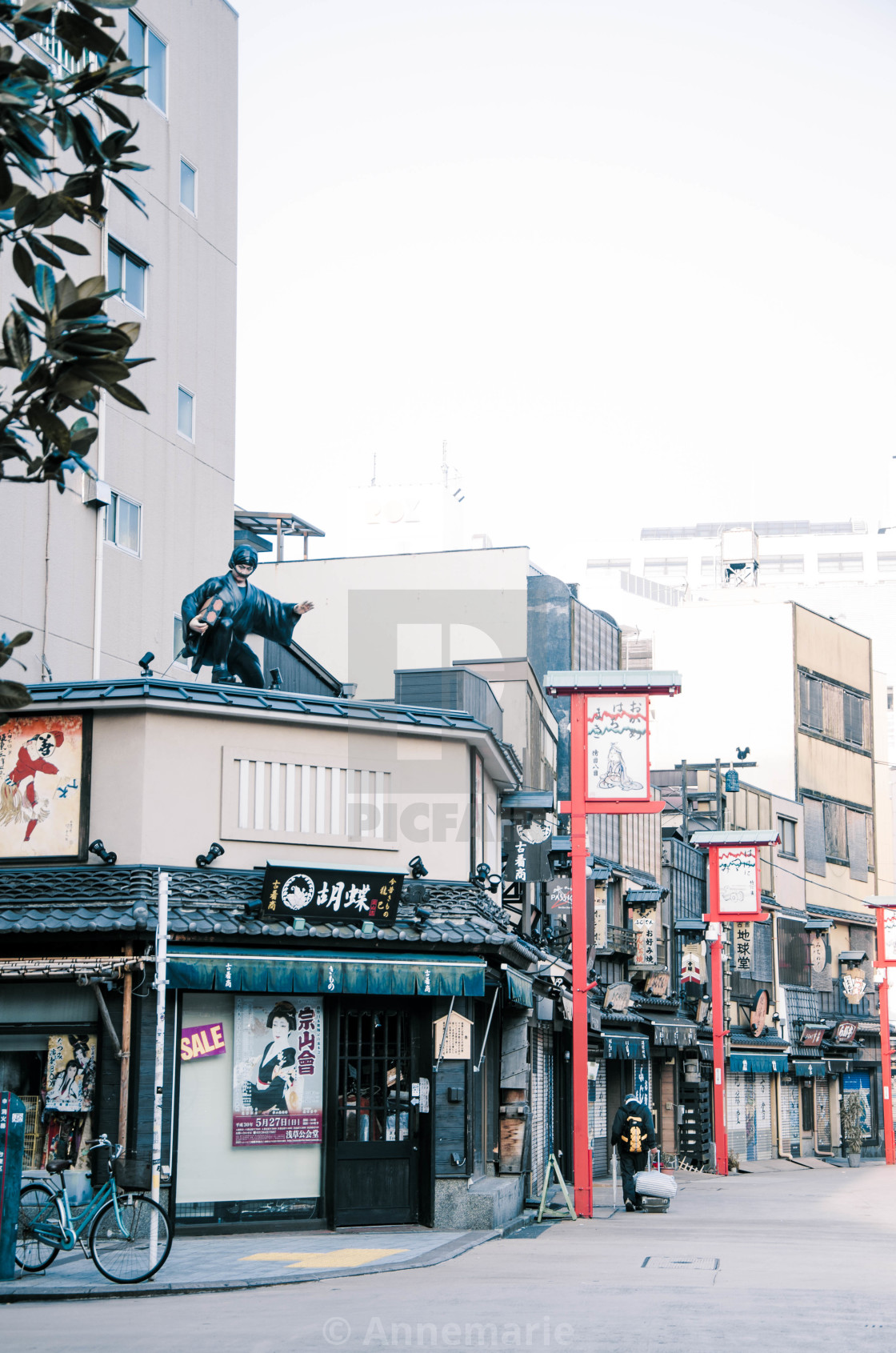 """Traditional street in Asakusa"" stock image"