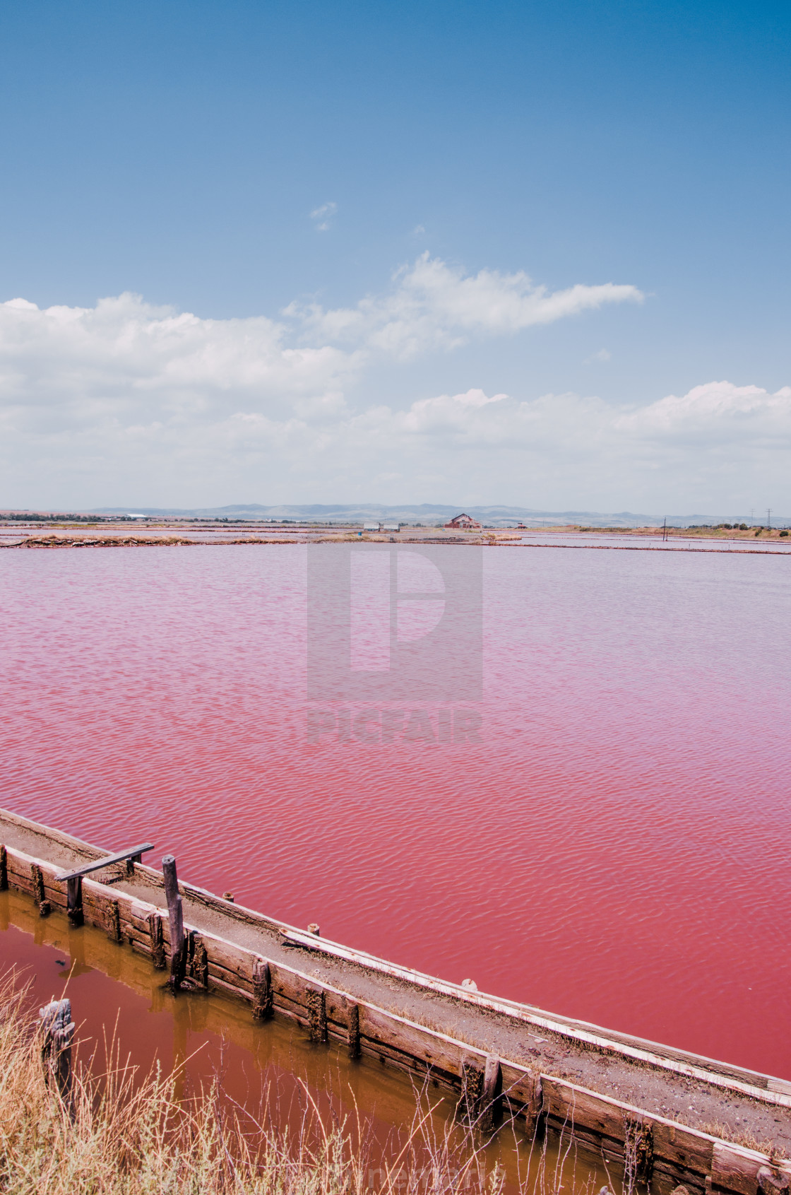 """Pink lake in Bulgaria"" stock image"