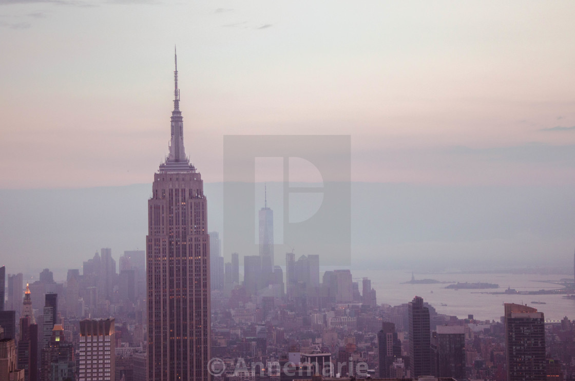 """Empire State Building at Dusk"" stock image"