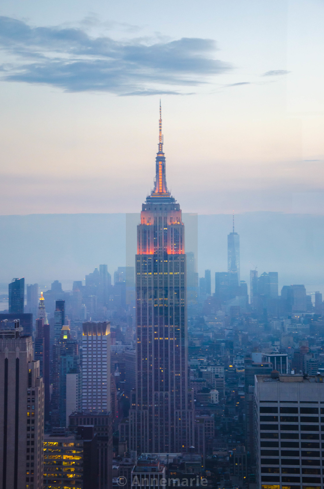 """""""Empire State Building in the evening"""" stock image"""