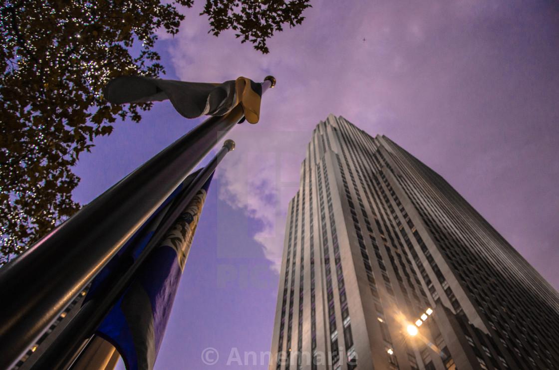 """""""Rockefeller Center at sunset"""" stock image"""