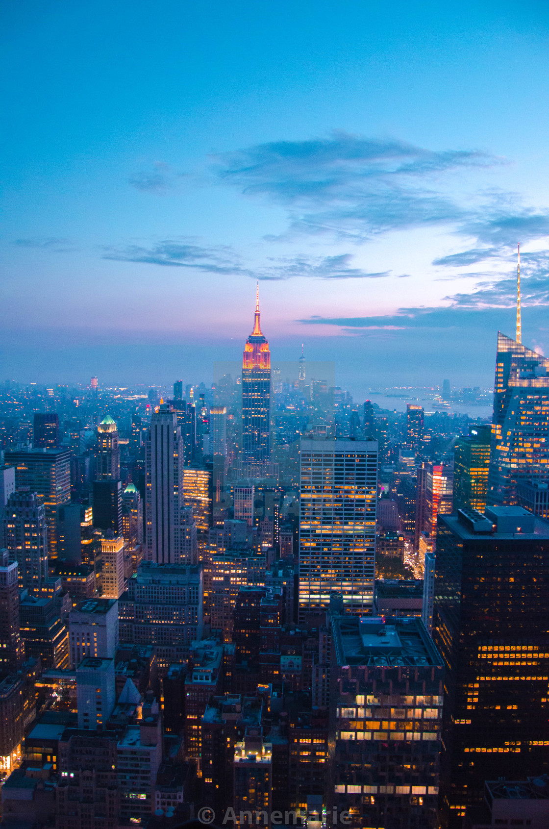 """""""Empire State Building at night"""" stock image"""