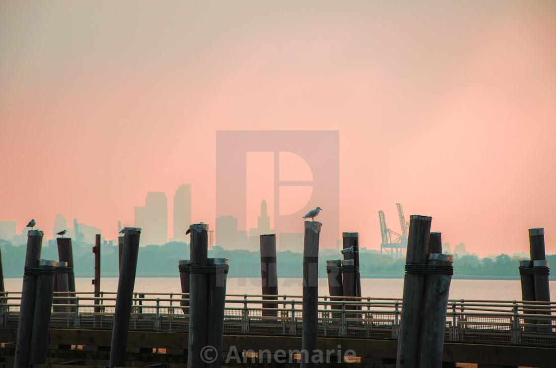 """NYC skyline"" stock image"
