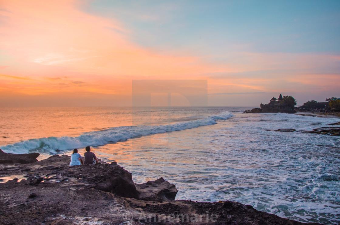 """Tanah Lot at sunset"" stock image"