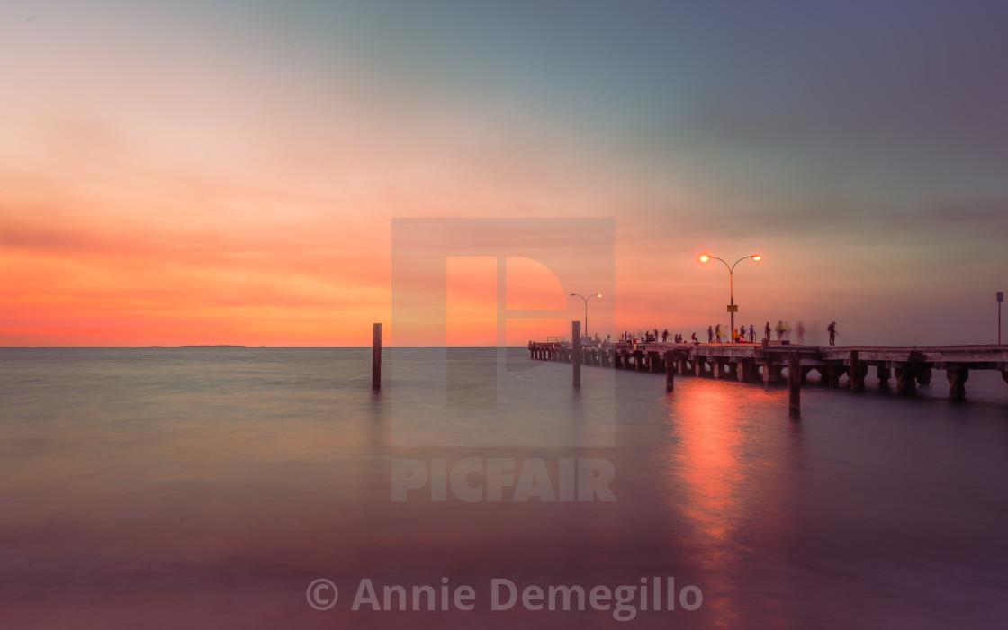 """Woodman Point Sunset - Golden Hazy"" stock image"