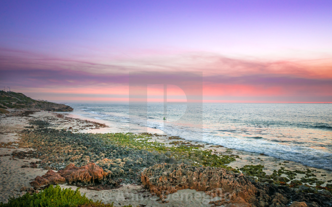 """Pastel Sky Sunset North Beach Perth Western Australia"" stock image"