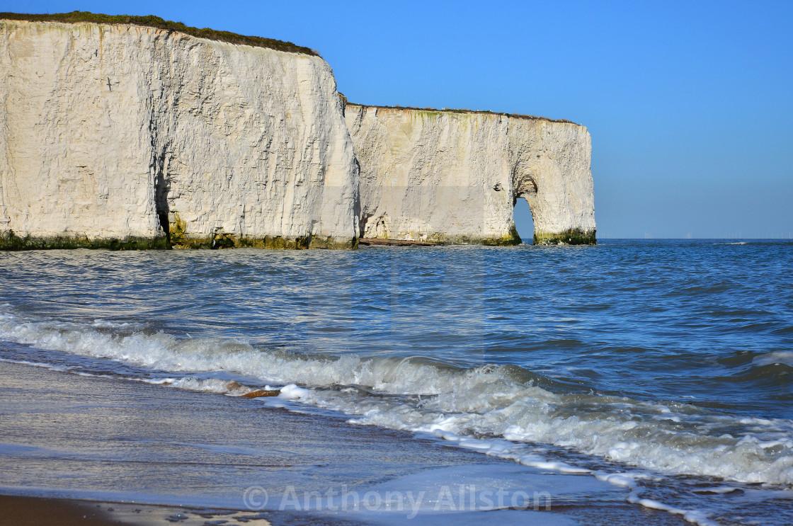 """""""Kingsgate Bay, Kent, UK"""" stock image"""