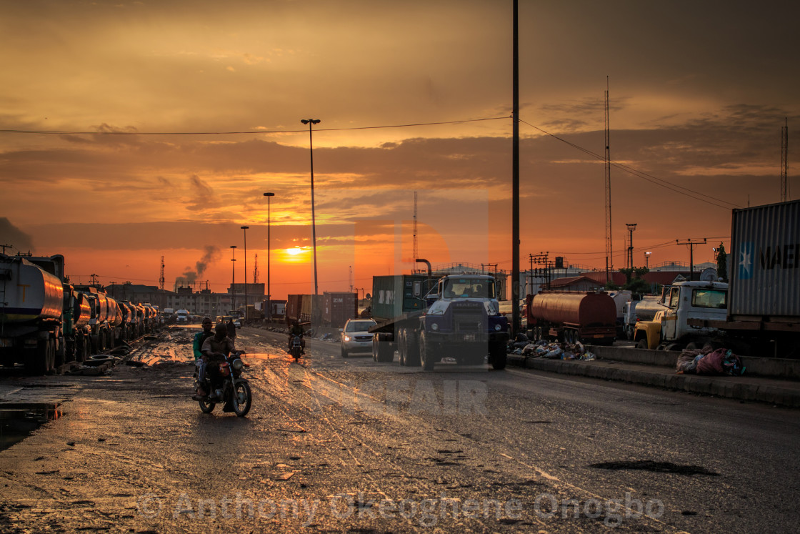 """Sunrise lagos"" stock image"