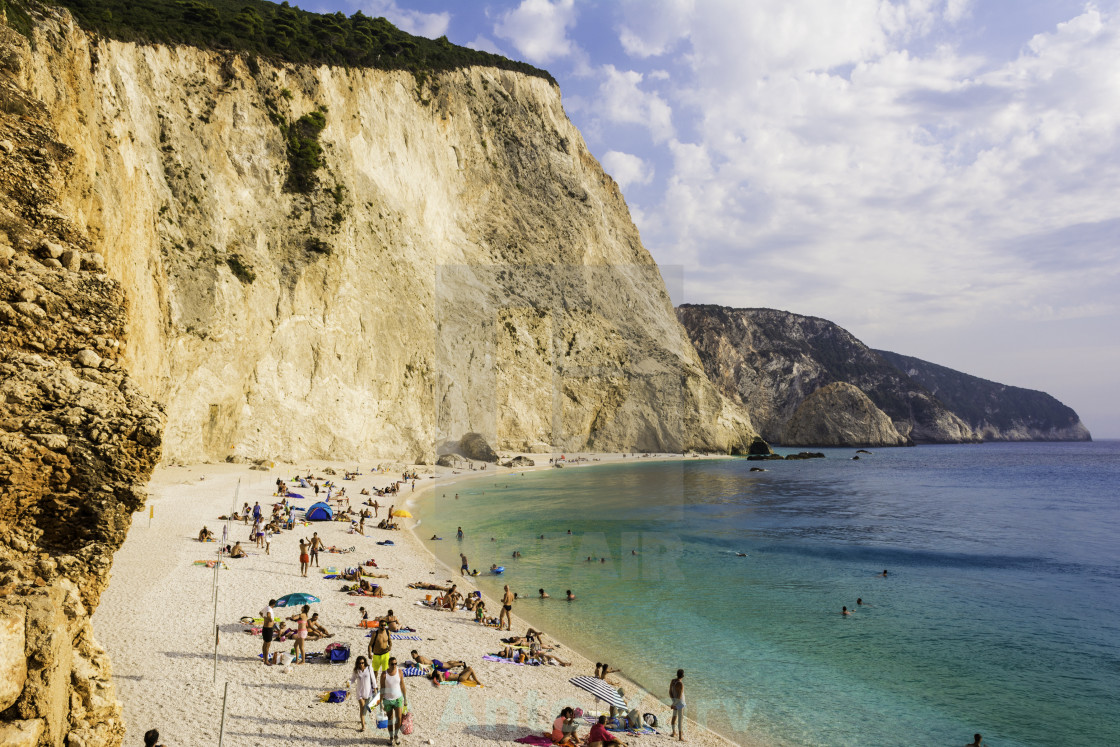"""Porto katsiki beach in lefkada, Greece"" stock image"