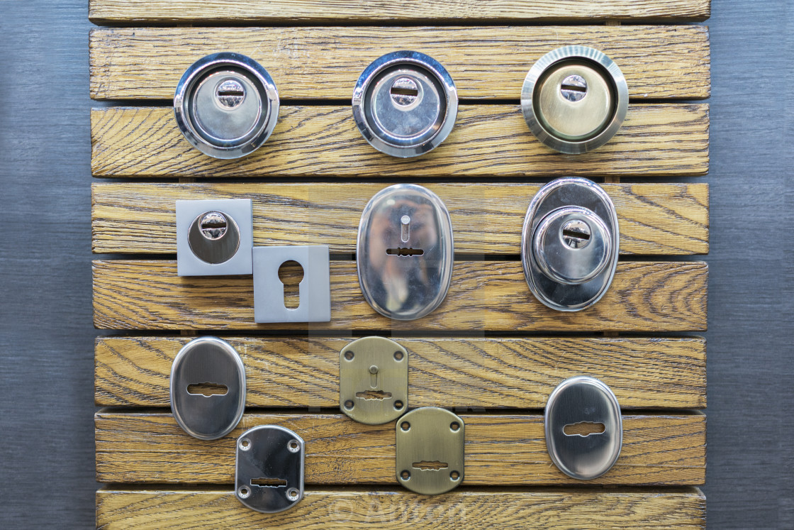 """set of various keyholes"" stock image"