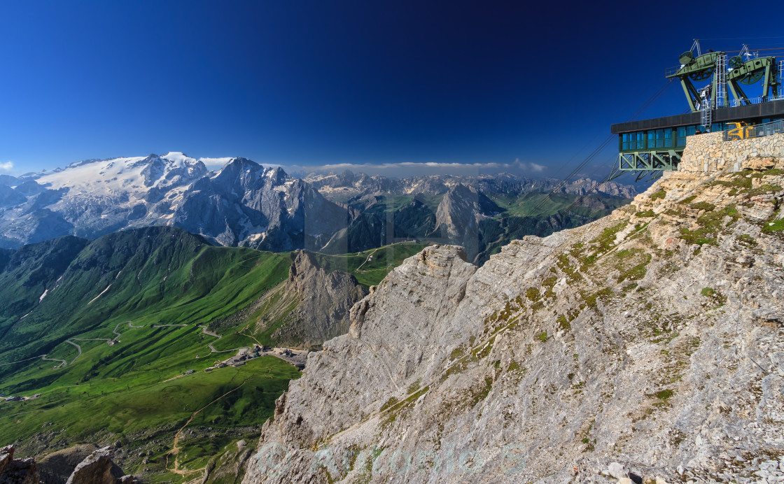 """Dolomiti - view from Sass Pordoi"" stock image"