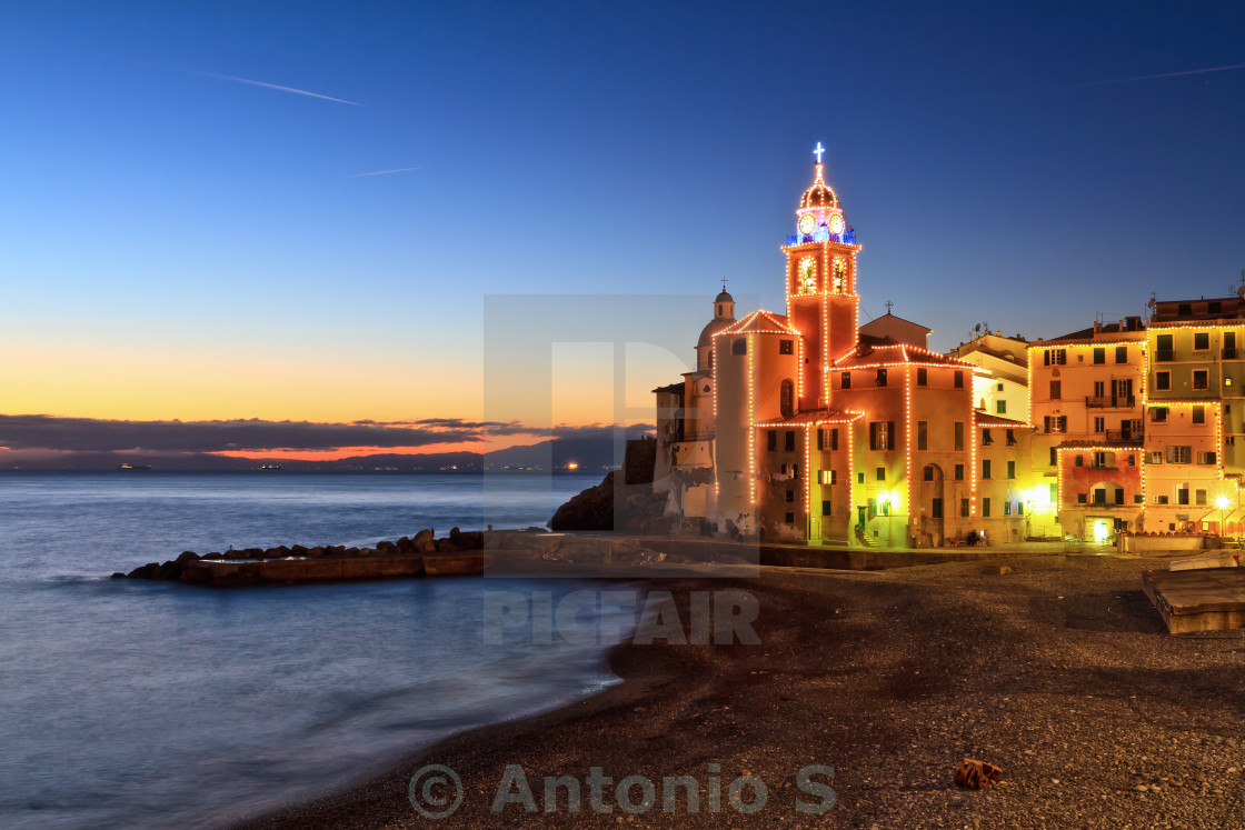 """Camogli at evening"" stock image"