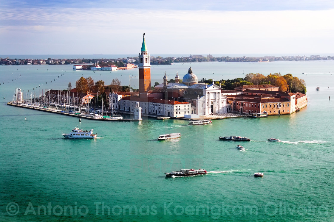 """Venice Overview"" stock image"