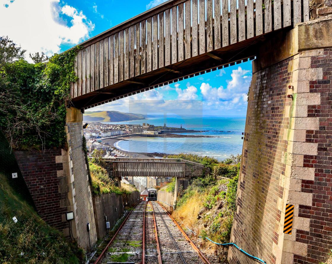 """Aberystwyth Cliff Railway"" stock image"