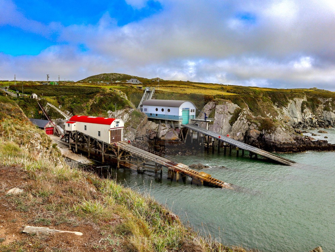 """St David's Lifeboat Station"" stock image"