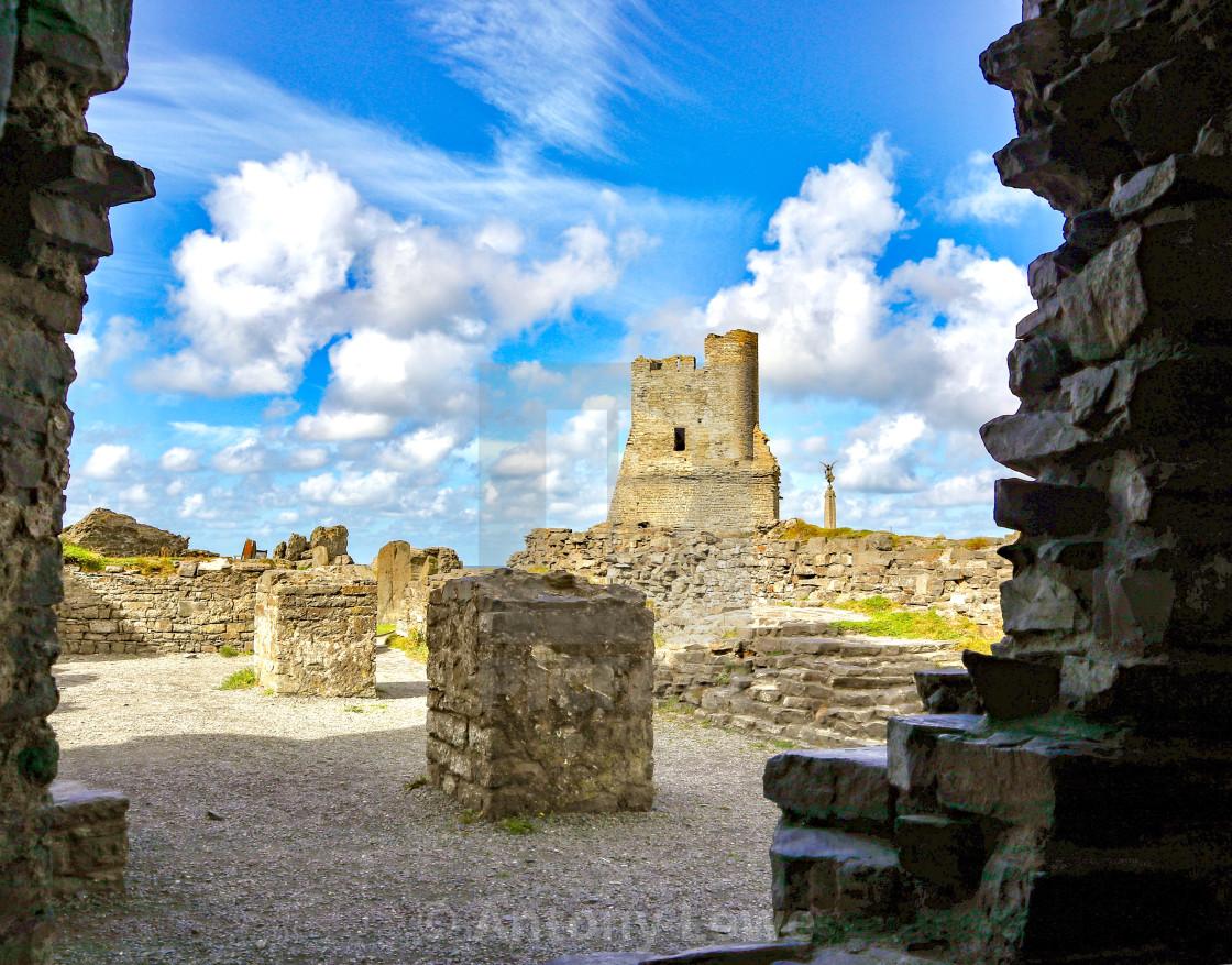 """Aberystwyth Castle"" stock image"