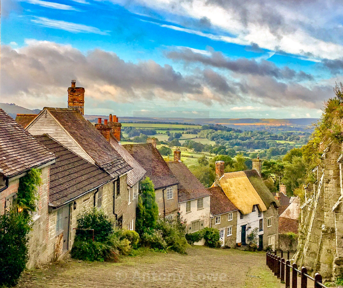 """Gold Hill"" stock image"