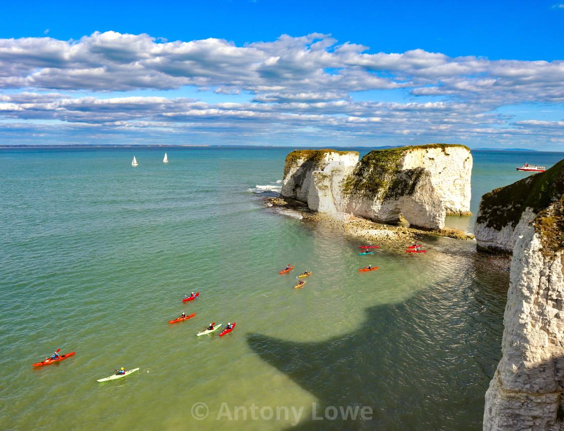 """Old Harry Kayaks"" stock image"