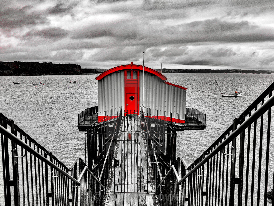 """Tenby Old Lifeboat Station"" stock image"