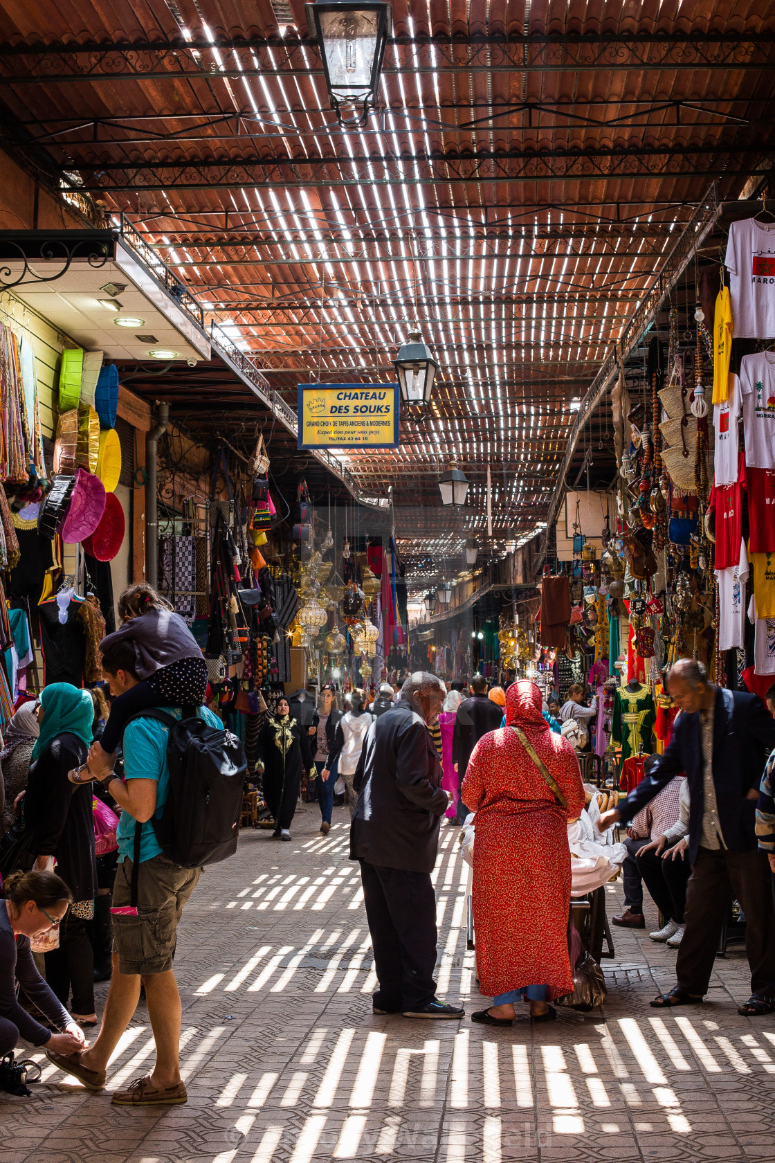 """Marrakech Souk"" stock image"