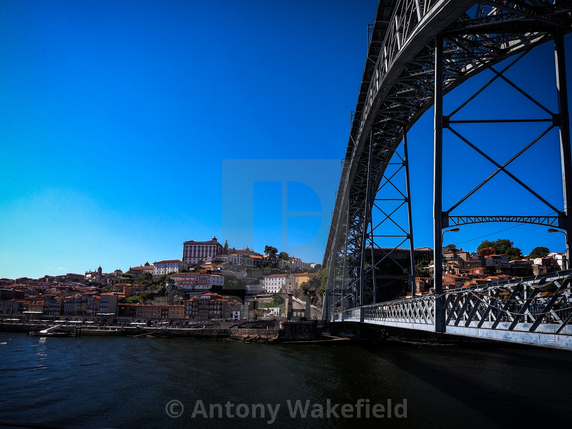 """Luis l Bridge & Porto City"" stock image"