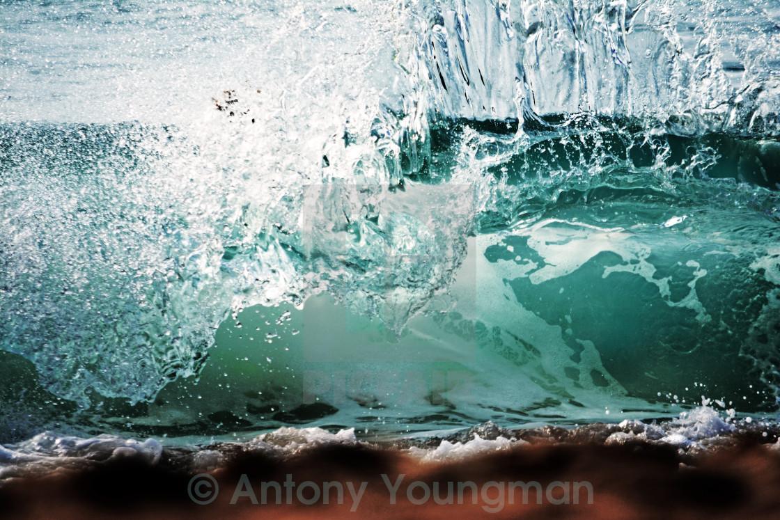 """Fistral Shorebreak"" stock image"