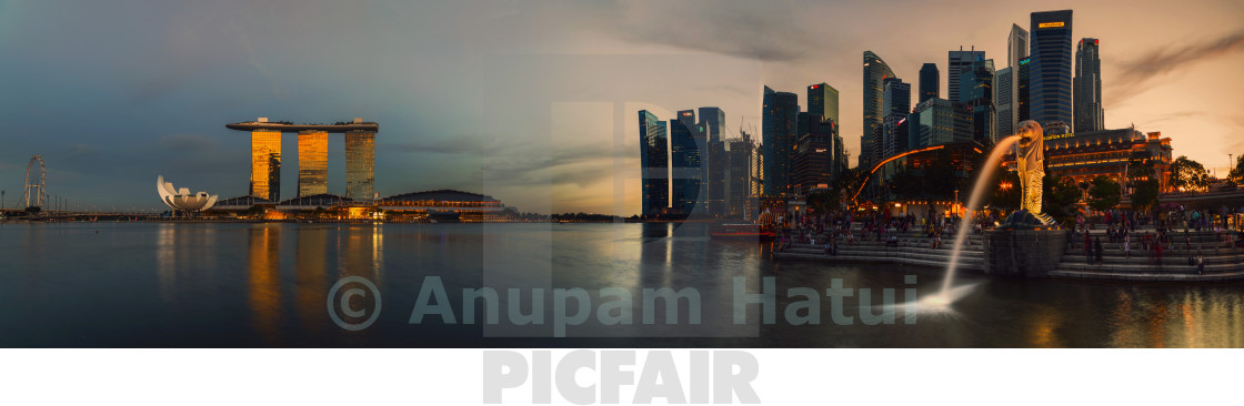 """Singapore City at Dusk"" stock image"
