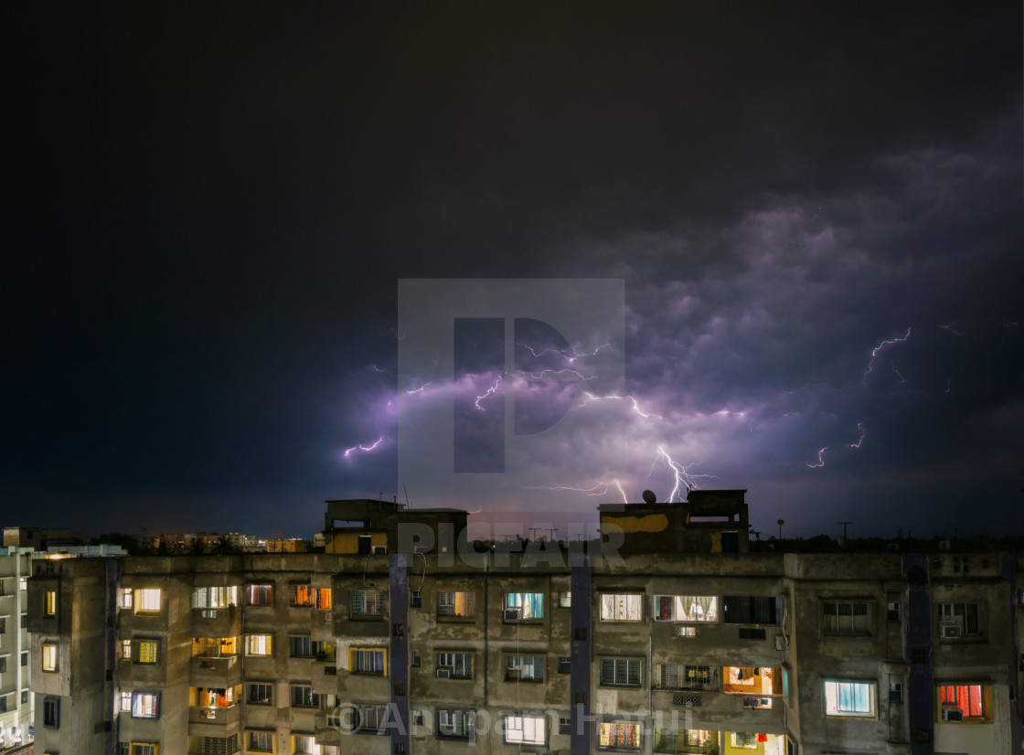"""Wrath of Zeus - Kolkata"" stock image"
